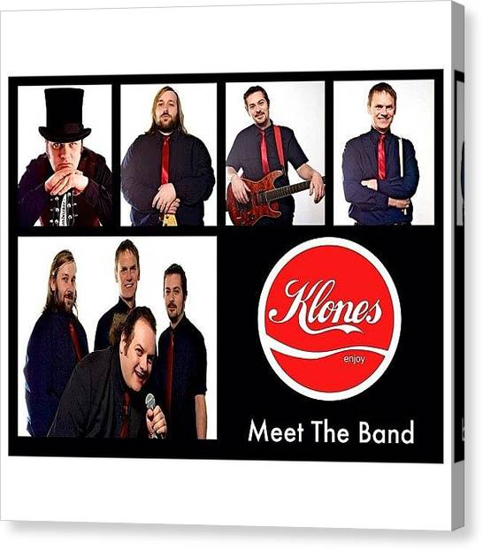 Fender Guitars Canvas Print - Www.klones.co.uk #band #music #man by Toonster The Bold
