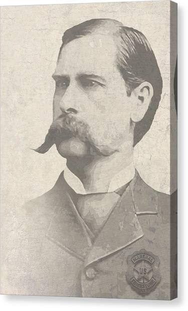 Ok Canvas Print - Wyatt Earp U. S. Marshal by Daniel Hagerman