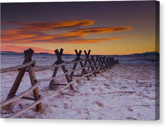 Big Sky Canvas Print - Wyoming Apocalypse by Aaron Bedell