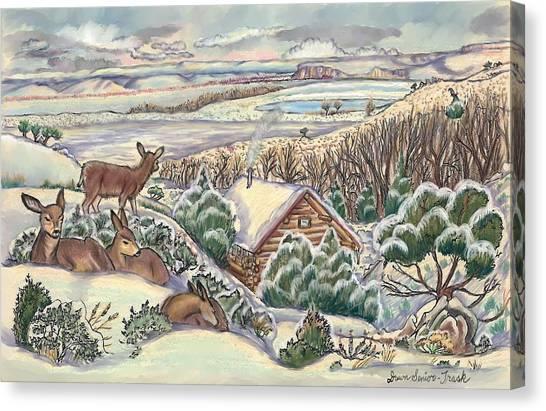 Wyoming Christmas Canvas Print
