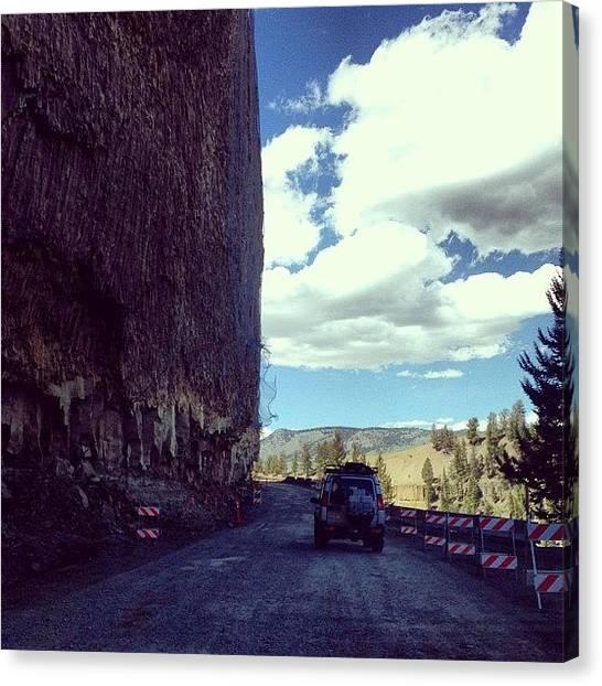 Yellowstone National Park Canvas Print - #wyoming #drive #yellowstone #national by Ankur Agarwal