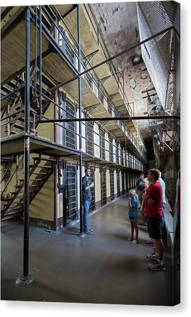 Detention Canvas Print - Wyoming Frontier Prison by Jim West