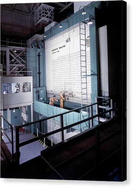 X-10 Graphite Reactor Canvas Print by Us Department Of Energy