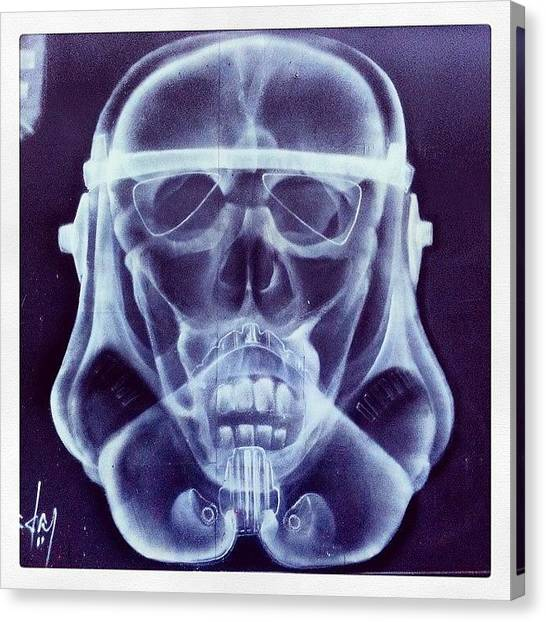 Stormtrooper Canvas Print - X-ray Stormtrooper #sheffield by Rob Harris