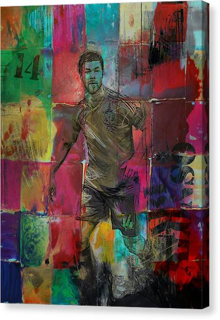 Real Madrid Canvas Print - Xabi Alonso - C by Corporate Art Task Force