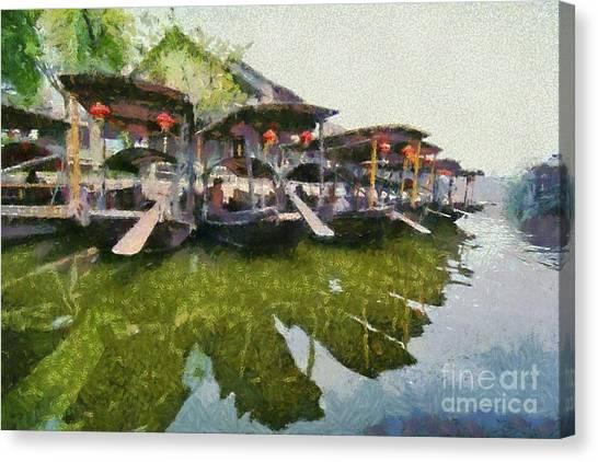 China Town Canvas Print - Xi Tang Town by George Atsametakis