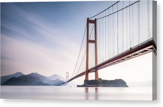 Bay Canvas Print - Xihou Bridge & Moon Bay by Qing Ai