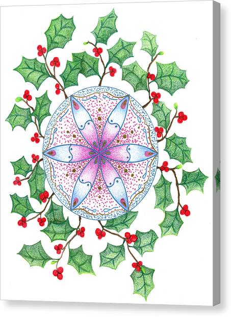 X'mas Wreath Canvas Print