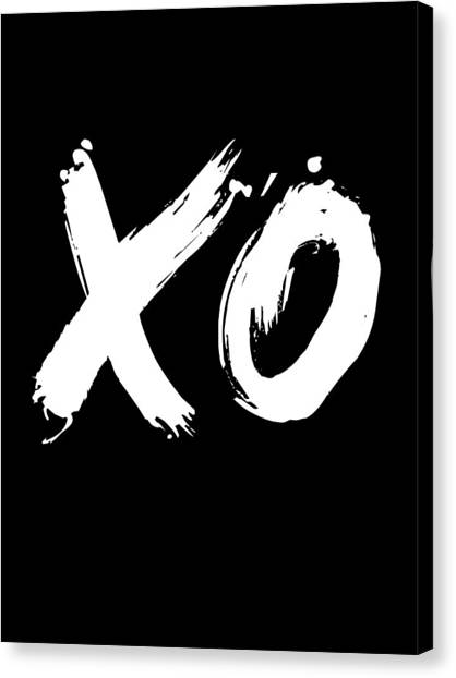 Hips Canvas Print - Xo Poster Black by Naxart Studio