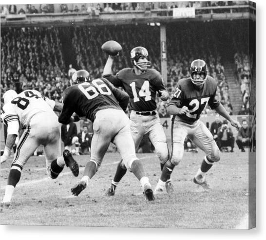 San Francisco 49ers Canvas Print - Y.a. Tittle by Retro Images Archive
