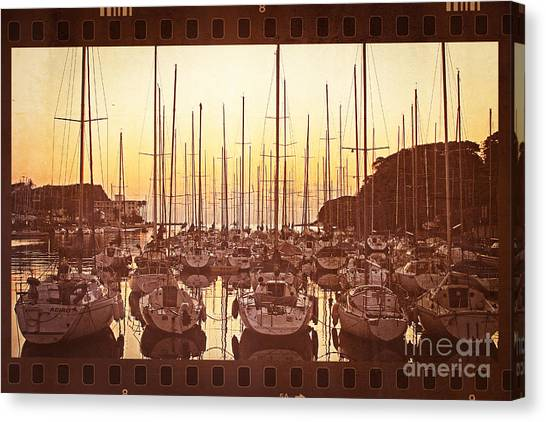 Yacht Harbor In The Late Afternoon Canvas Print