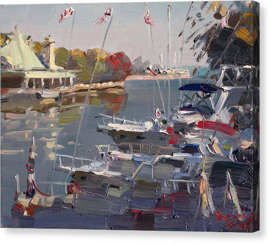 Ontario Canvas Print - Yachts In Port Credit  by Ylli Haruni