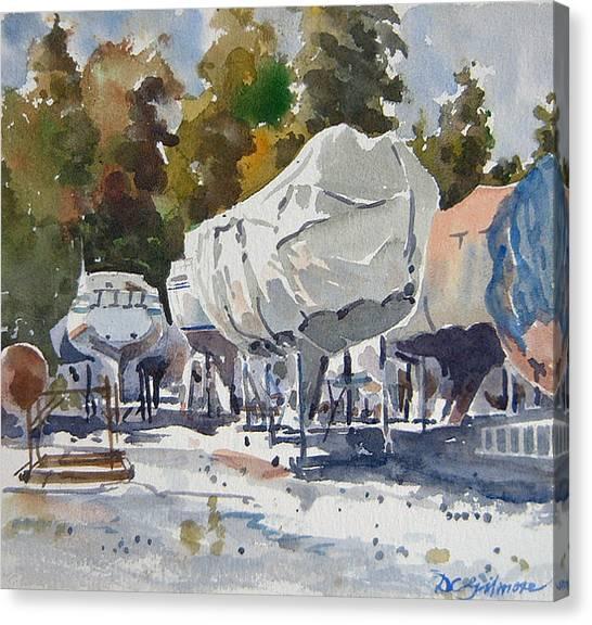 Yachts Under Wrap Canvas Print
