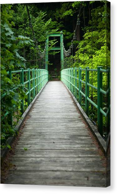 Canvas Print featuring the photograph Yagen Forest Bridge by Brad Brizek