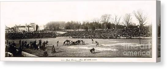 Ivy League Canvas Print - Yale Football Circa 1898 by Jon Neidert