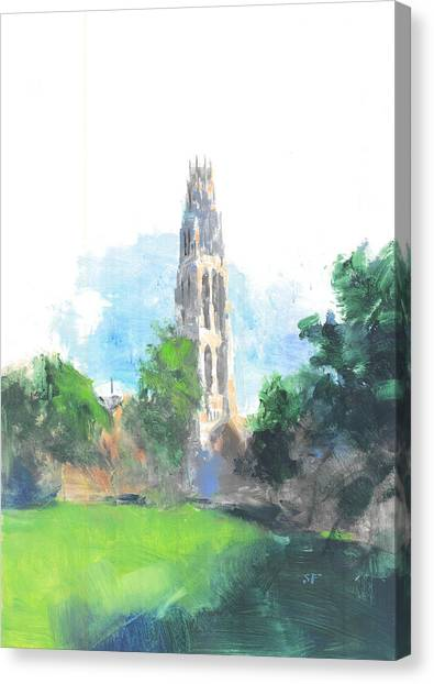 Yale University Canvas Print - Yale Harkness Tower by Stan Fellows