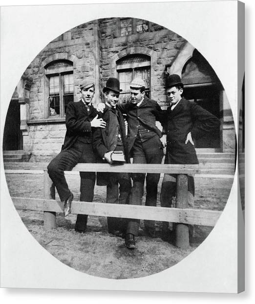 University Of Connecticut Canvas Print - Yale Students, C1890 by Granger