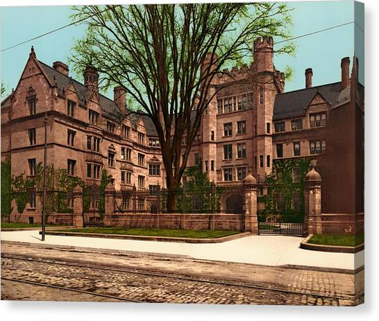 Vanderbilt University Canvas Print - Yale's Vanderbilt Hall 1900 by Mountain Dreams