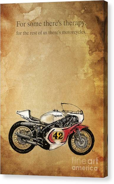 Yamaha Canvas Print - Yamaha - For Some There's Therapy by Drawspots Illustrations