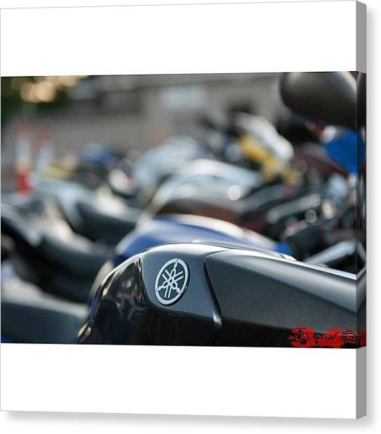 Yamaha Canvas Print - #yamaha #r1 #r6 #cbr #ducati #honda by James Crawshaw