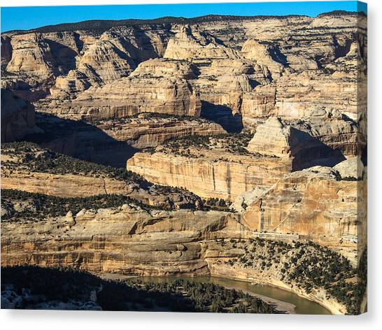 Yampa River Canyon In Dinosaur National Monument Canvas Print