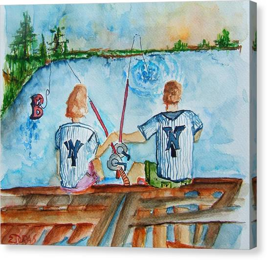 Yankee Fans Day Off Canvas Print