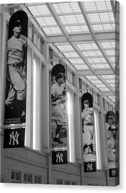 Yankee Greats Of Yesteryear In Black And White Canvas Print