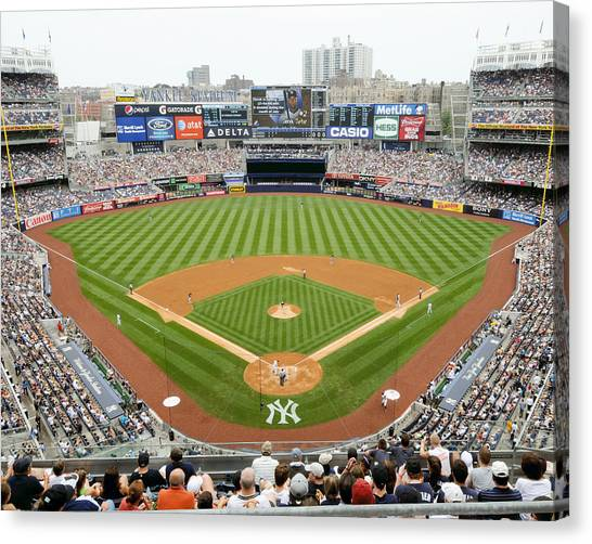 Yankee Stadium Canvas Print - Yankee Stadium Ballpark New by Horsch Gallery