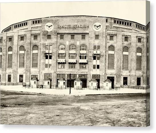 Yankee Stadium Canvas Print - Yankee Stadium by Bill Cannon