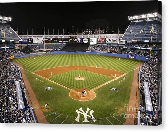 Yankee Stadium Canvas Print - Yankee Stadium by Chuck Spang
