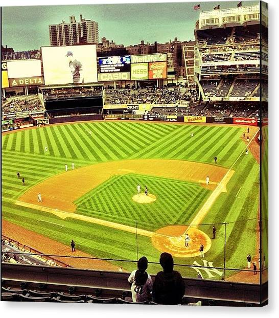 Rattlesnakes Canvas Print - Yankee Stadium #nyc #newyork by Taylor Grand