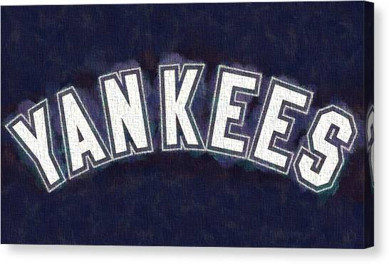 Lou Gehrig Canvas Print - Yankees On Canvas by Dan Sproul