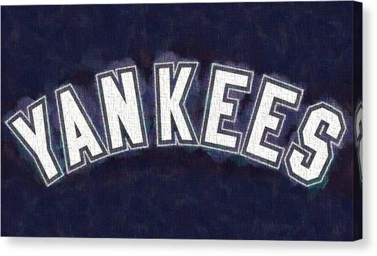 Joe Dimaggio Canvas Print - Yankees On Canvas by Dan Sproul