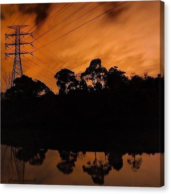 Australian Canvas Print - #yarrariver #richmond #melbourne by Sammy Evans