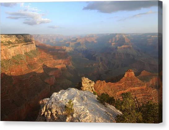 Yavapai Point Morning Canvas Print by Stephen  Vecchiotti