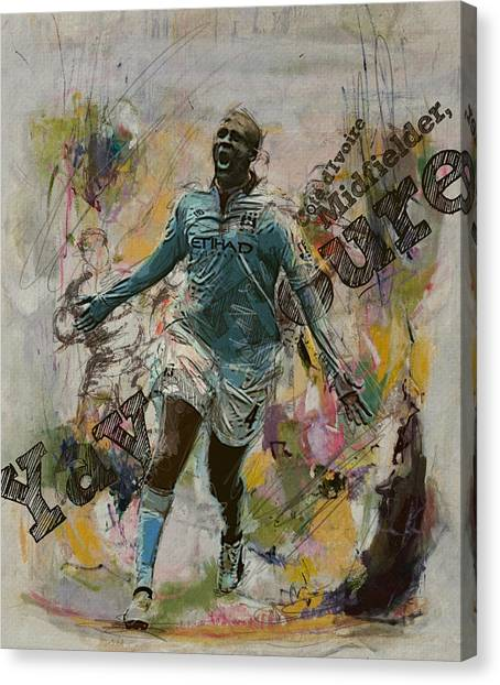 Fifa Canvas Print - Yaya Toure by Corporate Art Task Force