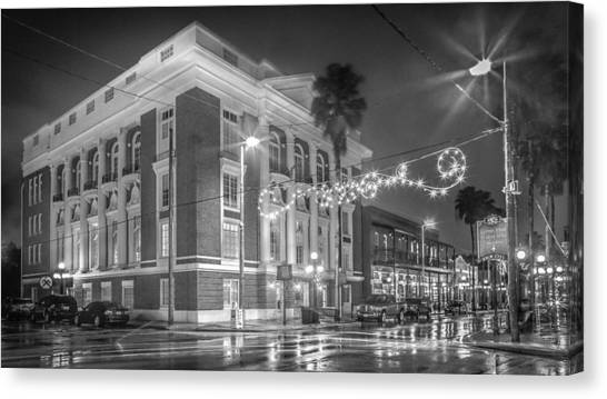 Ybor City Italian Club Canvas Print by Ybor Photography