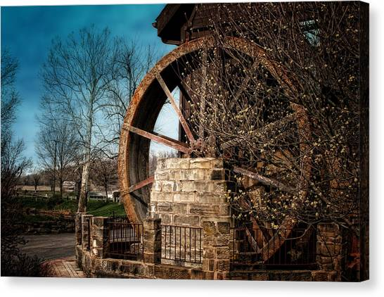 Factories Canvas Print - Ye Olde Mill by Tom Mc Nemar
