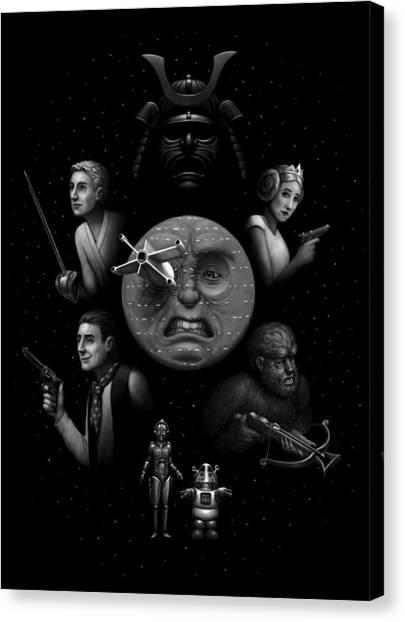 Ye Olde Space Movie Canvas Print