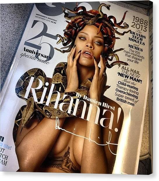 Rihanna Canvas Print - Yeah Boi 😍🙌🙊........ #rihanna by Stuart Roberts