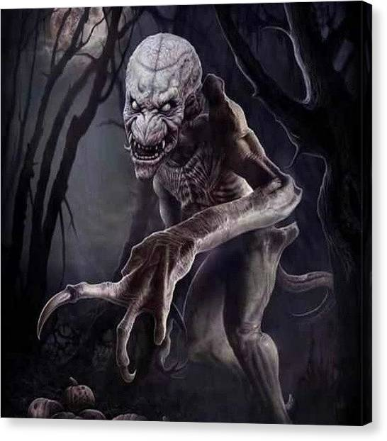 Horror Canvas Print - Yeah, Some Semblance Of #pumpkinhead by Paige Byington