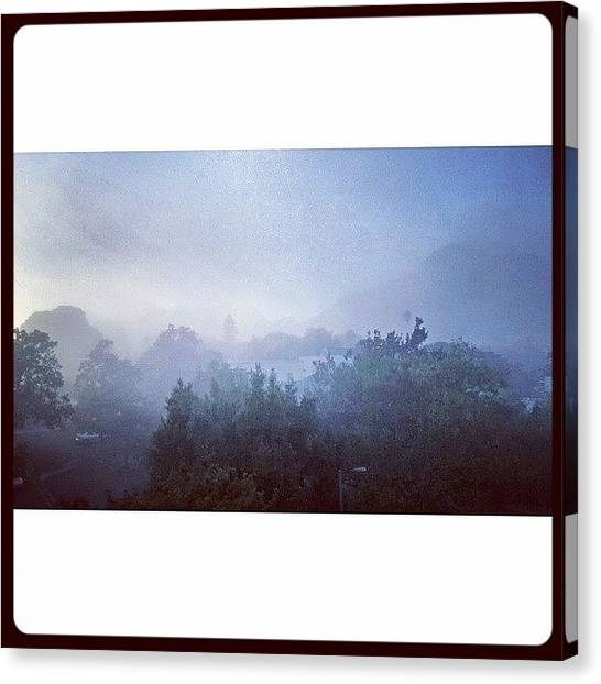 South African Canvas Print - Misty Stellenboscg by Armin Spammer