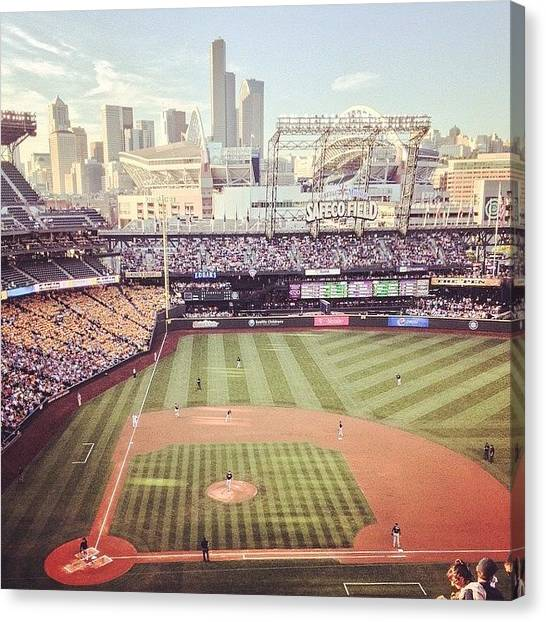 Seattle Mariners Canvas Print - Yeah...this View Will Never Get Old by Derek Kiel