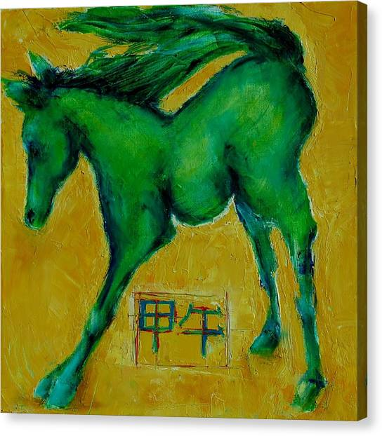 Year Of The Green Horse Canvas Print