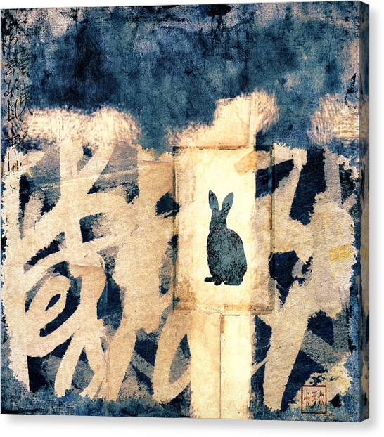 Chinese New Year Canvas Print - Year Of The Rabbit No. 3 by Carol Leigh