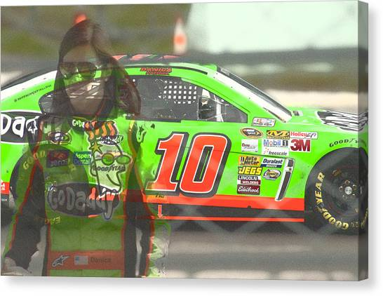 Danica Patrick Canvas Print - Gogirl by Gary Nelson