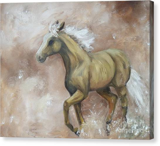 Yearling In Storm Canvas Print