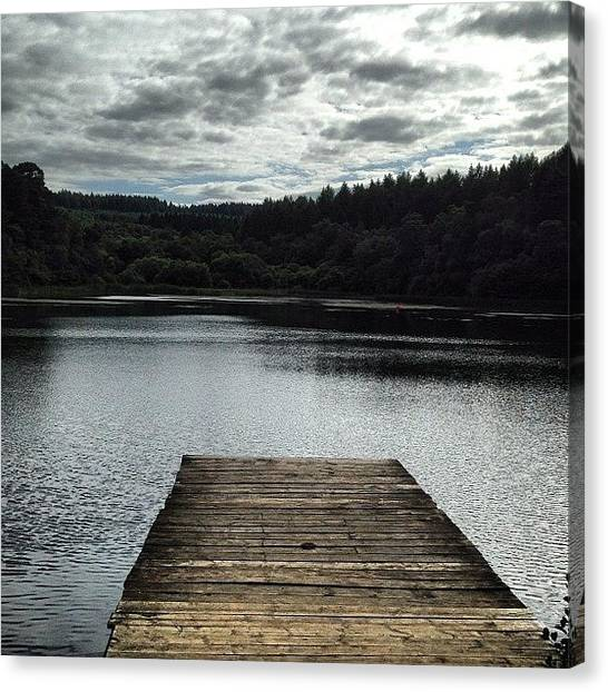 Pontoon Canvas Print - #yearsley #lake #peaceful #still #water by Baz Twyman
