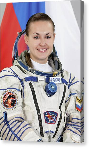 Astronauts Canvas Print - Yelena Serova by Nasa/gagarin Cosmonaut Training Center