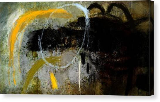 Yellow And Black Forms Canvas Print by Jeremy Norton